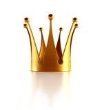 Coroa dourada isolada Foto de Stock