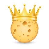Coroa dourada no queijo Fotos de Stock