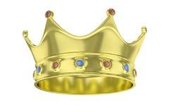 Coroa dourada rendição 3d Imagens de Stock Royalty Free