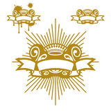 Coroa e rolo Imagens de Stock Royalty Free
