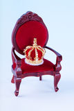 Coroa e trono Fotografia de Stock
