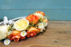 Coroa floral imagens de stock