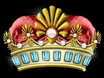 Coroa jeweled glamoroso Fotografia de Stock Royalty Free