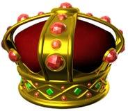 Coroa real do ouro Foto de Stock