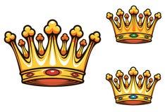 Coroa real do rei Imagem de Stock
