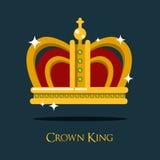 Coroa real do rei ou da rainha, ícone da tiara do papa Foto de Stock Royalty Free