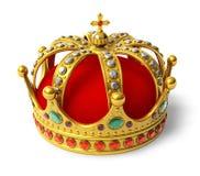 Coroa real dourada ilustração royalty free