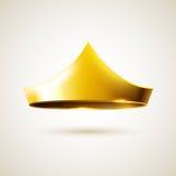 Coroa simples dourada Fotos de Stock Royalty Free