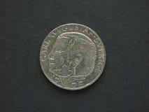 1 coroa sueca & x28; SEK& x29; moeda Foto de Stock Royalty Free