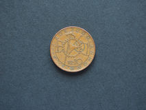 10 coroas & x28 checos; CZK& x29; moeda, moeda de República Checa & x28; CZ& x29; Fotografia de Stock Royalty Free