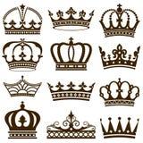 Coroas clássicas Foto de Stock