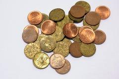 Coroas de Checo das moedas Foto de Stock Royalty Free