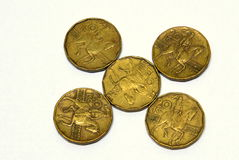Coroas de Checo das moedas Imagem de Stock