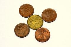 Coroas de Checo das moedas Imagem de Stock Royalty Free