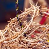 Coroas de espinhos como lembranças do Jerusalém Fotos de Stock