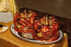 Coroas do casamento foto de stock royalty free