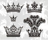 Coroas do vetor Fotografia de Stock