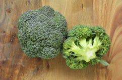 Coroas dos brócolis Fotografia de Stock