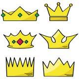 Coroas dos desenhos animados Imagens de Stock