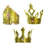Coroas douradas Imagem de Stock Royalty Free