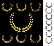 Coroas douradas ilustração do vetor