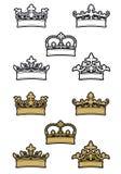 Coroas heráldicas ilustração royalty free