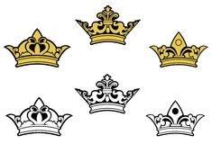 Coroas heráldicas Fotografia de Stock Royalty Free