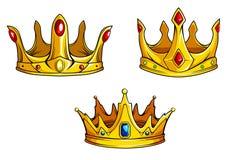 Coroas reais ajustadas Foto de Stock