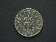 5 coroas suecas & x28; SEK& x29; moeda Fotos de Stock Royalty Free