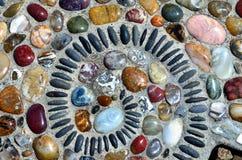 Free Coroful Rocks Swirl Stepping Stone Stock Photography - 93885072