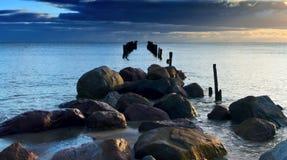 Coroful Sunrise, Baltic Sea, Latvia, Europe Stock Images