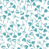 Corolla dill flower seamless pattern Royalty Free Stock Photos
