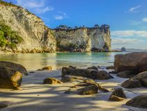 Coromandel Bay. This Bay can be found along the track to the Cathedral Cove in the Coromandel. The Coromandel can be found in the North Island of New Zealand Stock Photography