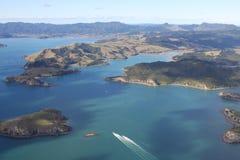 Coromandel Coast. Aerial view of the Cormandel coast, south of Coromandel town, New Zealand Royalty Free Stock Photo