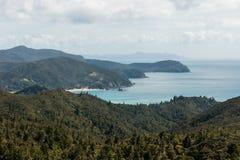 Coromandel-Halbinselküstenlinie Stockfotos