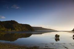Coromandel Peninsula. Reflection as the sun begins to set over the Coromandel Peninsular, New Zealand Royalty Free Stock Photos