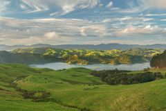 Coromandel peninsula from state highway 25. royalty free stock photography