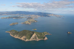Coromandel Peninsular, New Zealand. Aerial view of the Cormandel coast, New Zealand Royalty Free Stock Photography