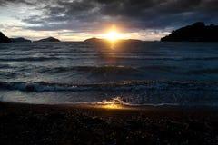Coromandel Sunset. Sunset at a coromandel beach, on  New Zealand's North Island Stock Images