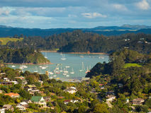 Coromandel town. Natural harbour of the the town of Coromandel, North Island, New Zealand Stock Photos