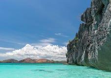 Coron海岛海滩,菲律宾看法  免版税库存照片