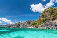 Coron海岛海滩,菲律宾看法  免版税库存图片