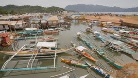 Coron海湾与和码头 苏禄海 巴拉望岛 菲律宾 Busuanga海岛 股票录像