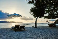 Coron白色沙子海滩巴拉望岛菲律宾 库存图片