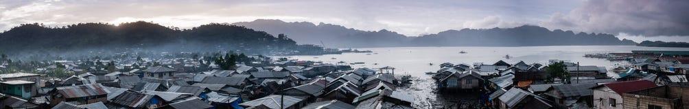 Coron镇在busuanga海岛,菲律宾 免版税图库摄影