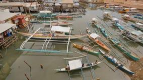 Coron-Bucht mit und Pier Sulu-Meer PALAWAN philippinen Busuanga-Insel stock footage