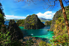 Coron Epitomized. The View, midway to Kayangan lake, is simply breathtaking royalty free stock images