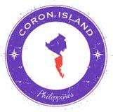 Coron Island circular patriotic badge. Stock Image