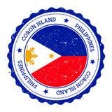 Coron Island flag badge. Royalty Free Stock Photo