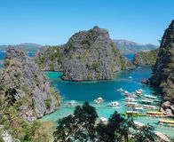 Coron island, philippines. A view of the harbour on Coron island, philippines Royalty Free Stock Images